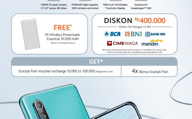 Erajaya Group Starts Open Pre-order Xiaomi Mi 10