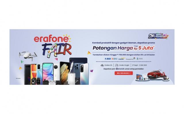 Erajaya Digital Present Erafone Fair 2021